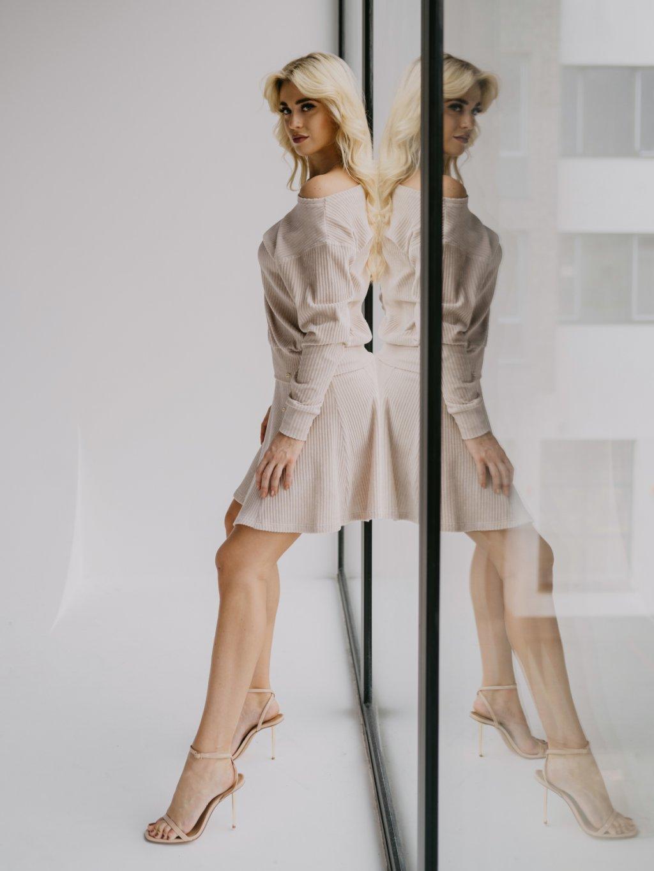 béžová sukňa chester