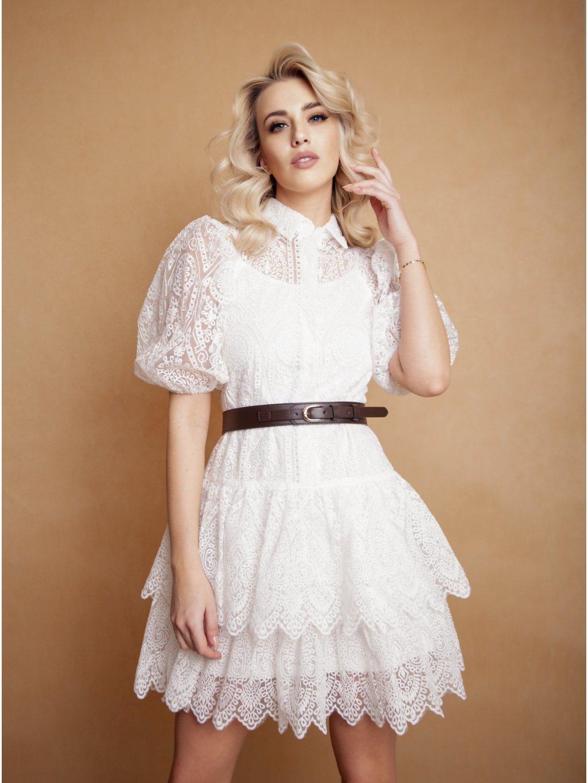 biele romantické šaty