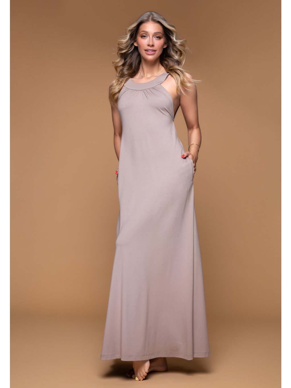 dlhé šaty hazelnut jasmina