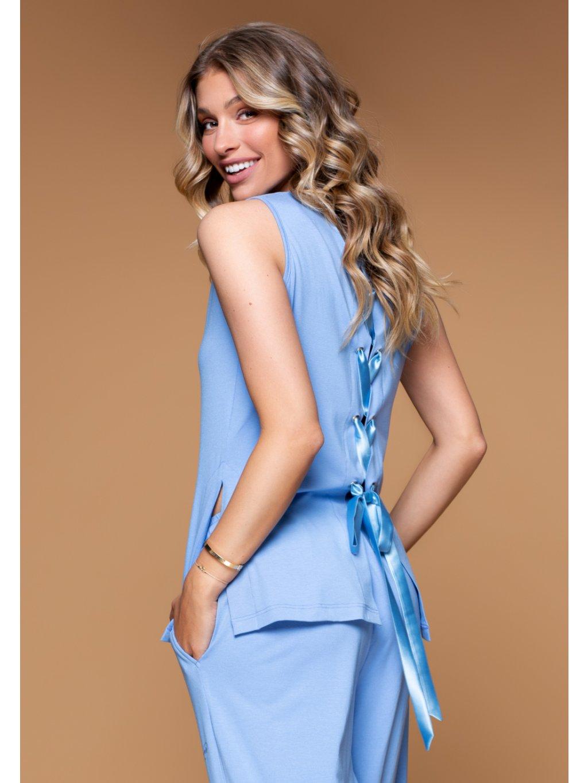 modrý top loungewear