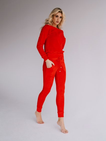 červené chilli nohavice chester