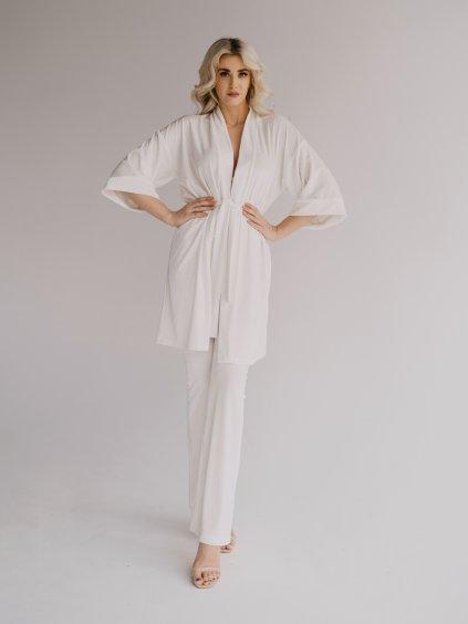 biele kimono krátke