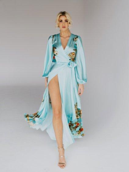 dlhé tyrkysové šaty
