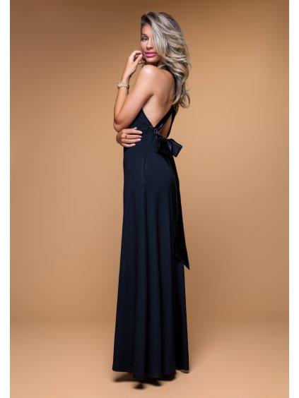 tmavomodré maxi šaty