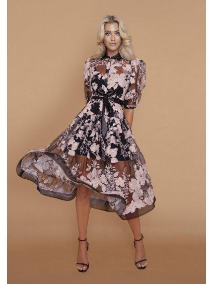kvetovane šaty tylové