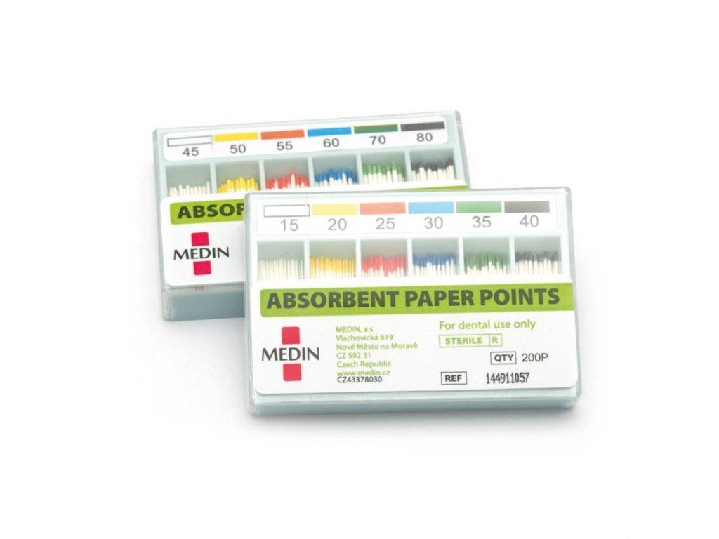 MEDIN Čepy papírové absorbční standard ISO 008