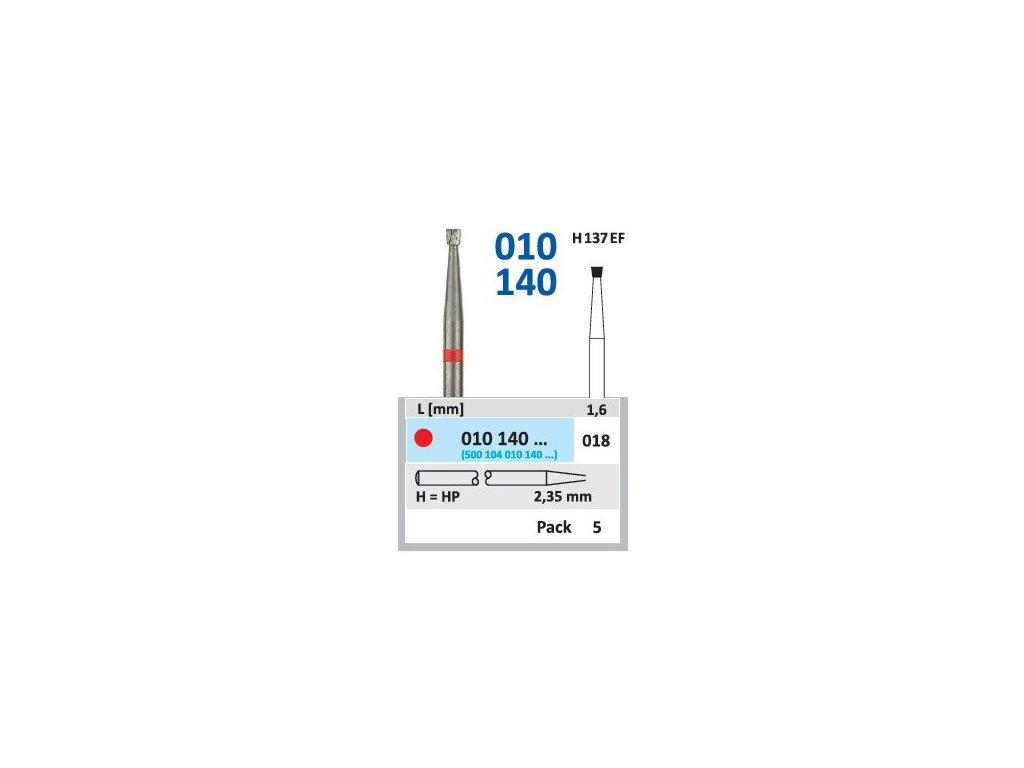 Tvrdokovová fréza - obrácený kónus, 010140, průměr 1,8mm