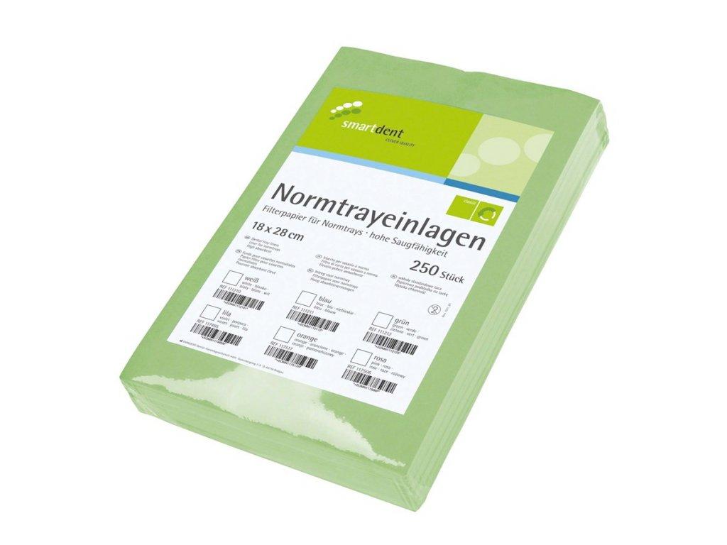 Smart ubrousky pro tácky - krepové, 250ks zelené
