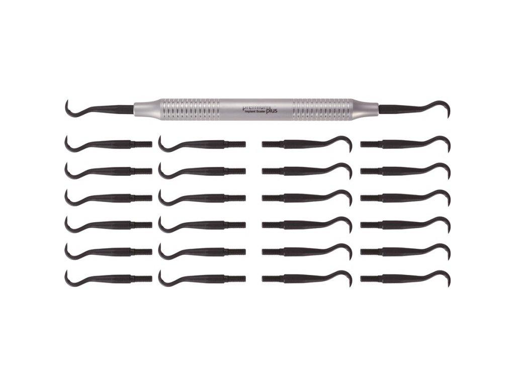 Sada scalerů H6/H7 pro implantologii + vyměnitelné hroty 24ks