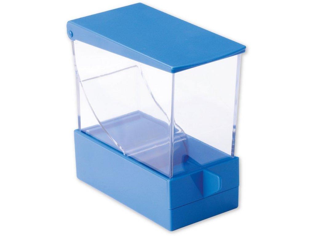 Zásobník na vatové válečky, modrý