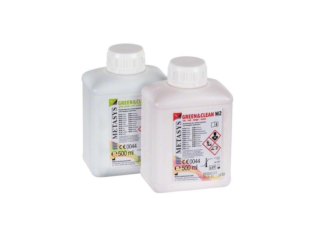 GREEN&CLEAN M2 - dezinfekce sacích zařízení, 2x500ml