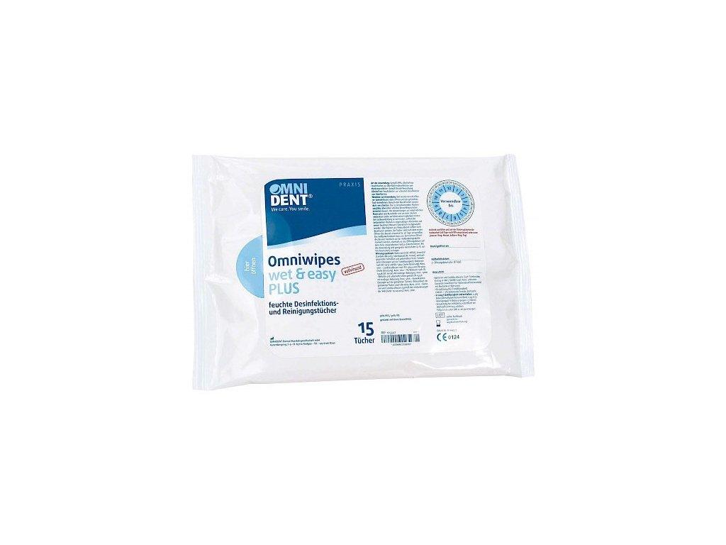 Omniwipes wet&easy PLUS - dezinfekční ubrousky, 2x15ks