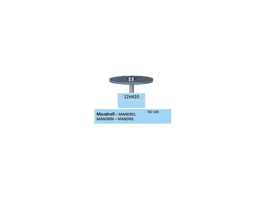 HORICO Mandrel pro leštící gumy a disky 12H420