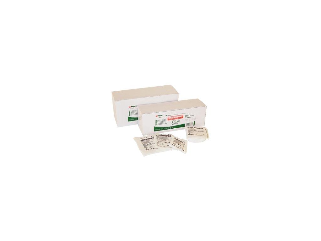 Sterilkompres - gázové kompresy, 5x5cm, 8vr., 100x2ks