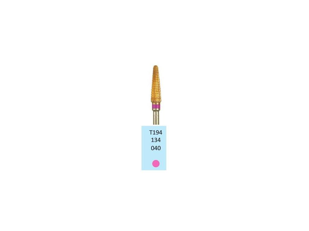 Tvrdokovová fréza s titanovou vrstvou - kónus zakulacený, T194134, 4mm