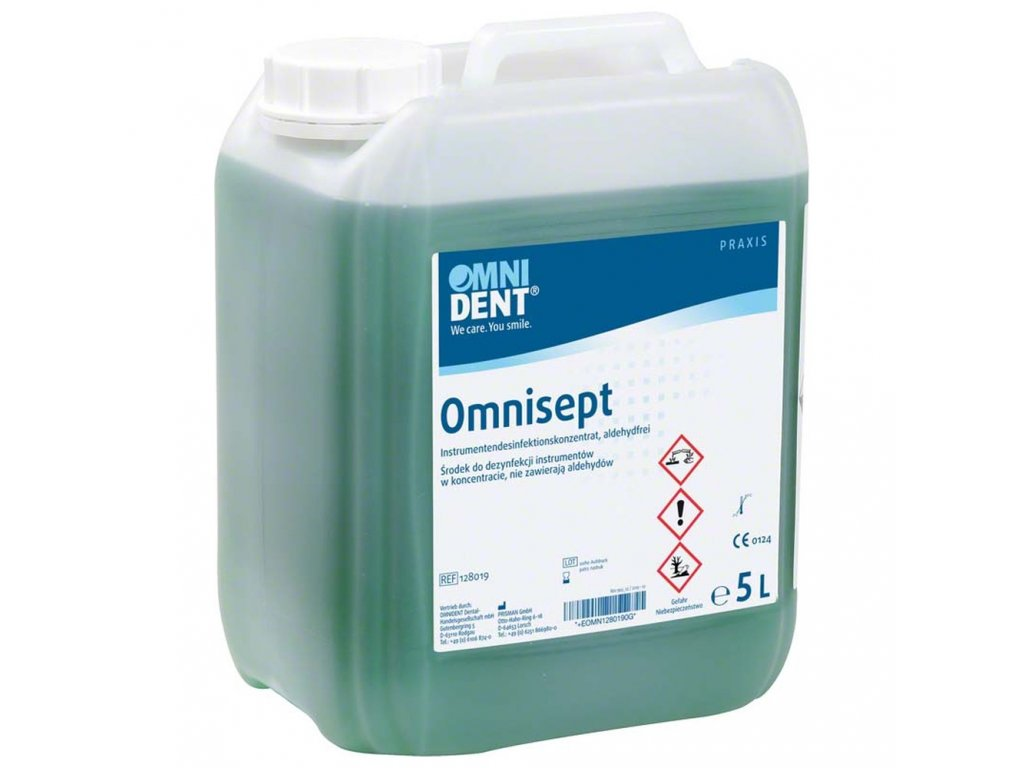 Omnisept - dezinfekční přípravek pro ruční a rotační nástroje, 5l