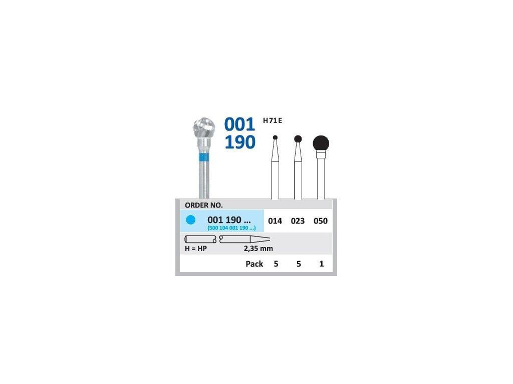 Tvrdokovová fréza - kulička, 001190, průměr 2,3mm