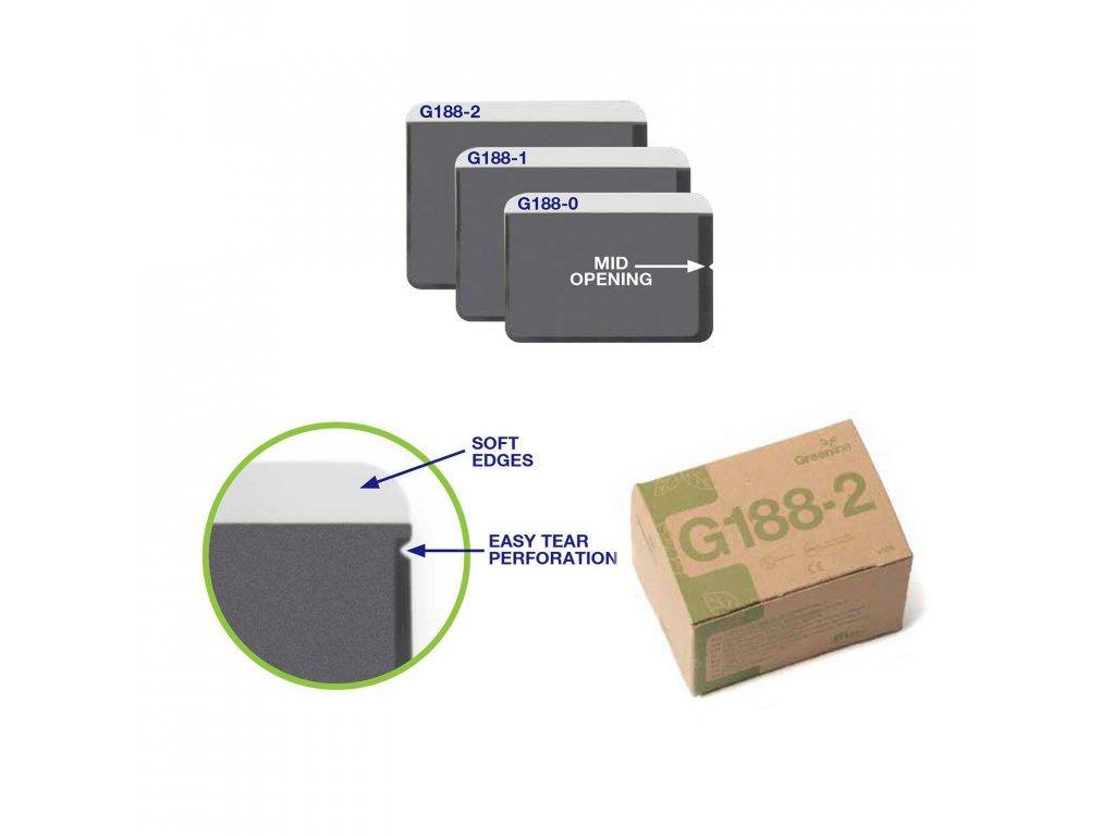 Greenline ochranné návleky na RTG se středním otevíráním, vel. 0, 100ks
