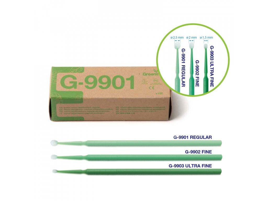 Greenline mikroaplikátory mini, 100ks fine