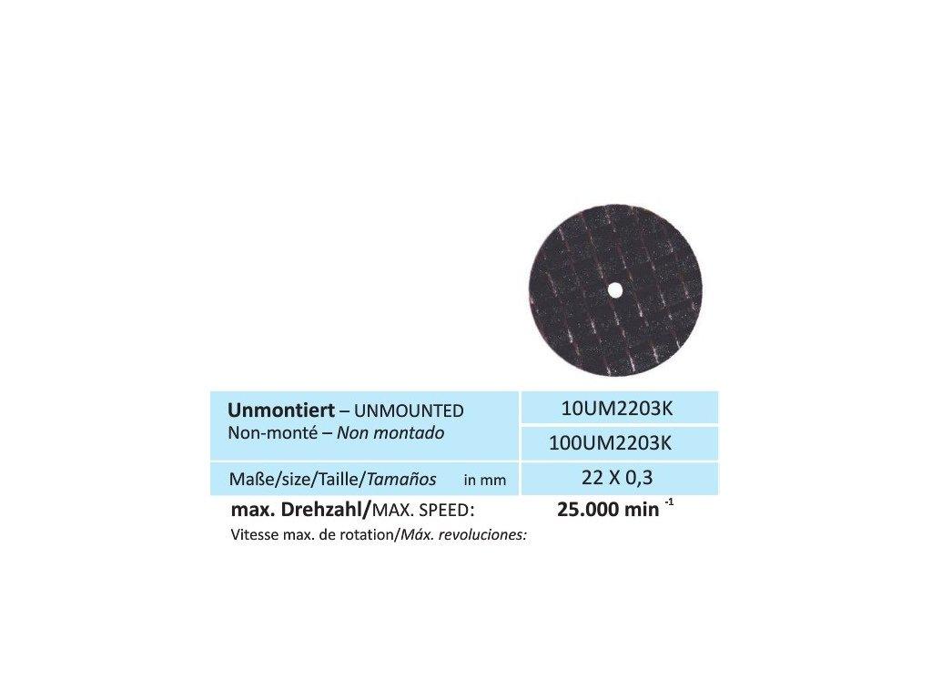 Disk na keramiku, velikost 22 x 0,3 mm