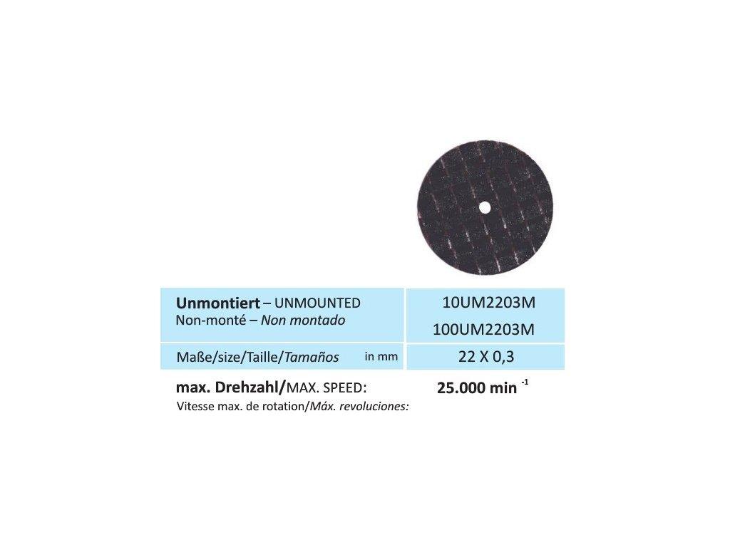 Disk na kovy, velikost 22 x 0,3 mm