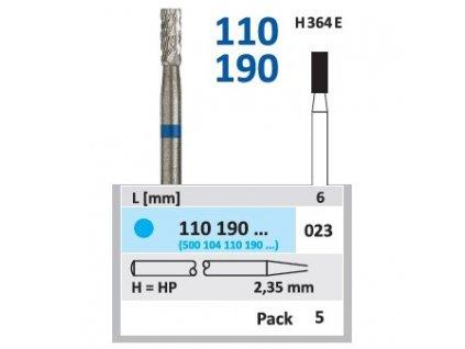 Tvrdokovová fréza - cylindr, 110190, průměr 2,3mm