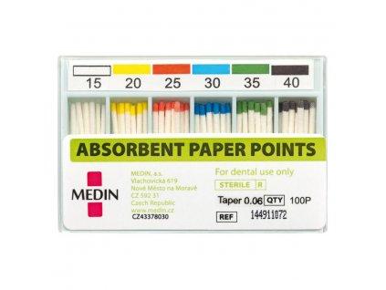 MEDIN Čepy papírové absorbční kužel 0,04 ISO 025