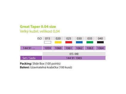 MEDIN Čepy papírové absorbční kužel 0,04 ISO 030