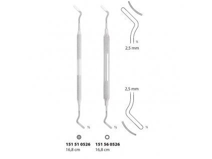 Zavaděč retrakčních vláken (zadní zuby), 2,5 mm; 16,8 cm