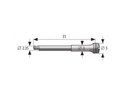 MEDIN Mandrel 5mm zesílený K 2,35mm, 3,3cm