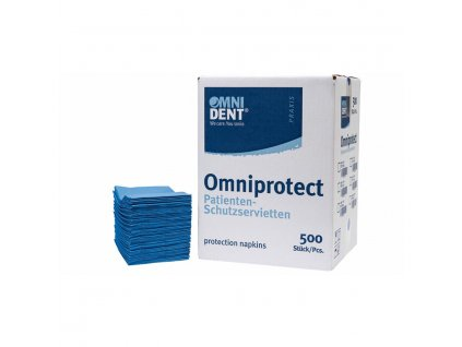 Omniprotect - ochranné roušky (BRYNDÁKY) pacienta, 500ks modré