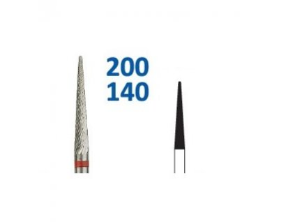 Tvrdokovová fréza - kónus zakulacený, 200140, průměr 2mm