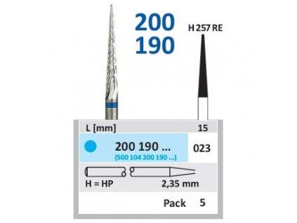 Tvrdokovová fréza - kónus zakulacený, 200190, průměr 2,3mm