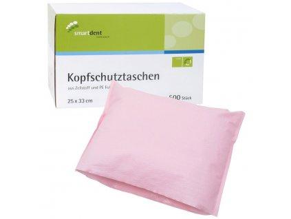Smart ochranné návleky na opěrku hlavy, 25x33cm růžové