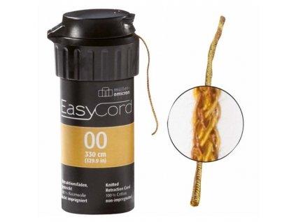 EasyCord Retrakční vlákno, velikost 00, barva hnědá
