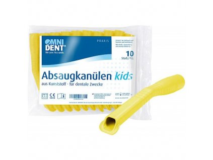 OMNI Odsávací kanyly dětské, 10ks, žluté