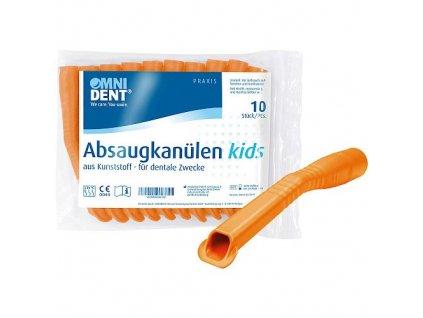 OMNI Odsávací kanyly dětské, 10ks, oranžové