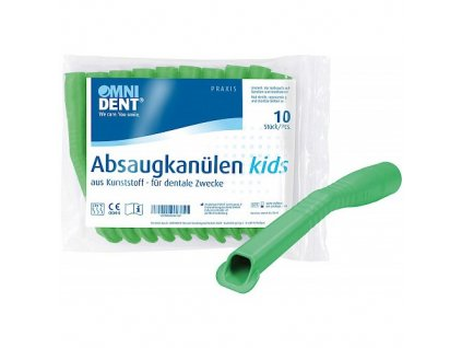 OMNI Odsávací kanyly dětské, 10ks, zelené