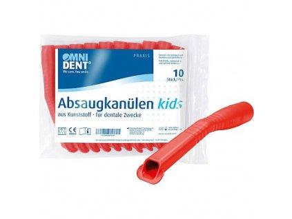 OMNI Odsávací kanyly dětské, 10ks, červené