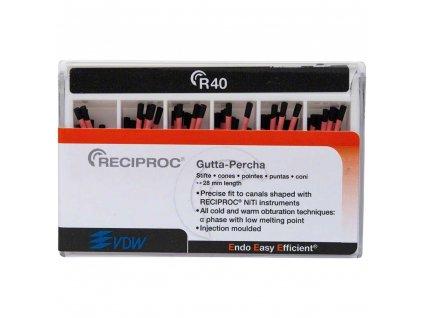 RECIPROC - guttaperčové čepy, černé R40