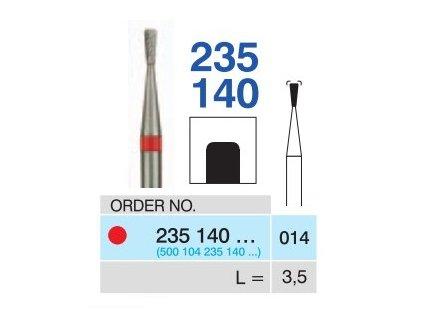 Tvrdokovová fréza - obrácený kónus, 235140, průměr 1,4mm