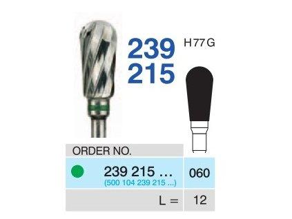 Tvrdokovová fréza - hruška, 239215, průměr 6mm