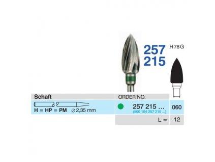 Tvrdokovová fréza - plamínek, 257215, průměr 6mm