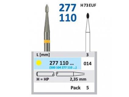 Tvrdokovová fréza - vajíčko, 277110, průměr 1,4mm
