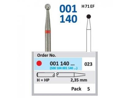 Tvrdokovová fréza - kulička, 001140, průměr 2,3mm