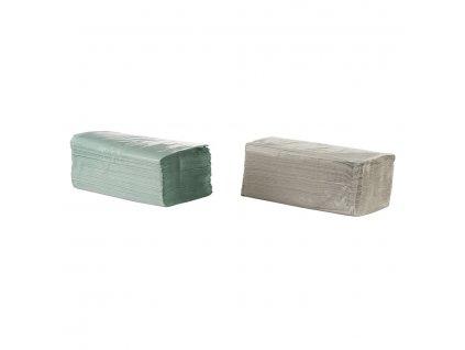 ZZ papírové ručníky - jednovrstvé zelené, 5000ks