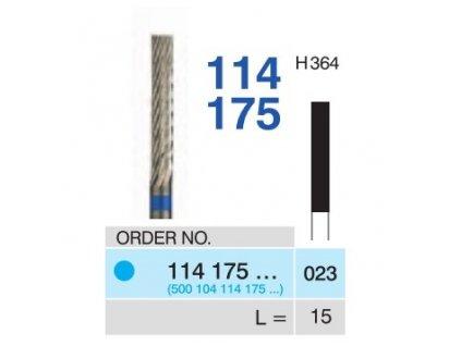 Tvrdokovová fréza - cylindr, 114175, průměr 2,3mm