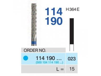 Tvrdokovová fréza - cylindr, 114190, průměr 2,3mm - DOPRODEJ POSLEDNÍCH KUSŮ