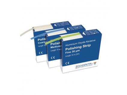 Abrasive polishing strips - leštící páska, 60 mikronů