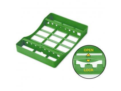 Plastová sterilizační kazeta na nástroje, střední, na 8ks